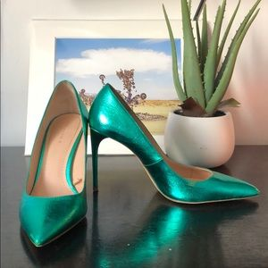 Metallic Green Stilettos